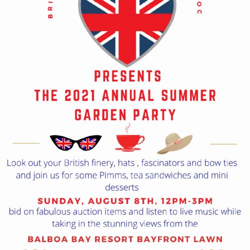 2021 garden party flyer